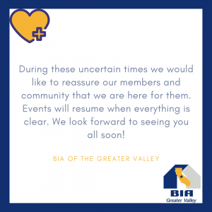 BIA events will resume soon.